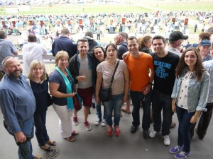 Group in Grandstand